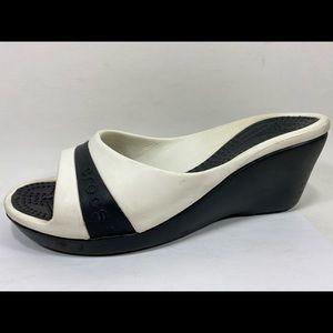 Crocs Slip on Wedge Sandals Womens 8